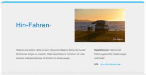 Hin-Fahren ist dabei: #Wohnmobilblog #Auszeichnung #Reiseblog #Reisetipps Wohnmobil-Reiseblog