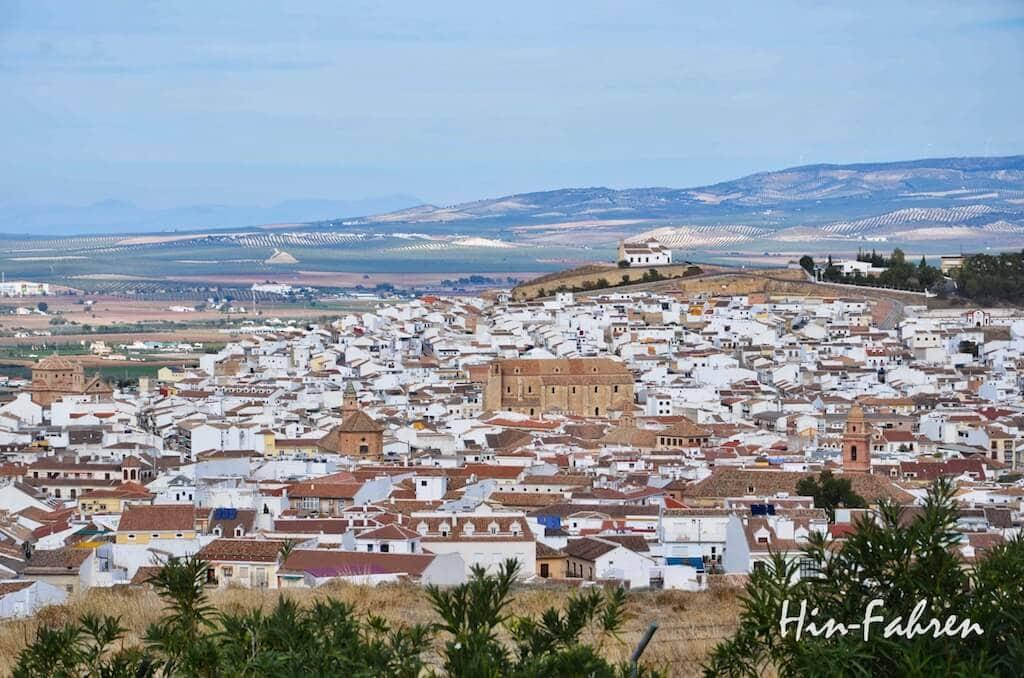 Mit dem Wohnmobil in Andalusien: Blick auf Antequera