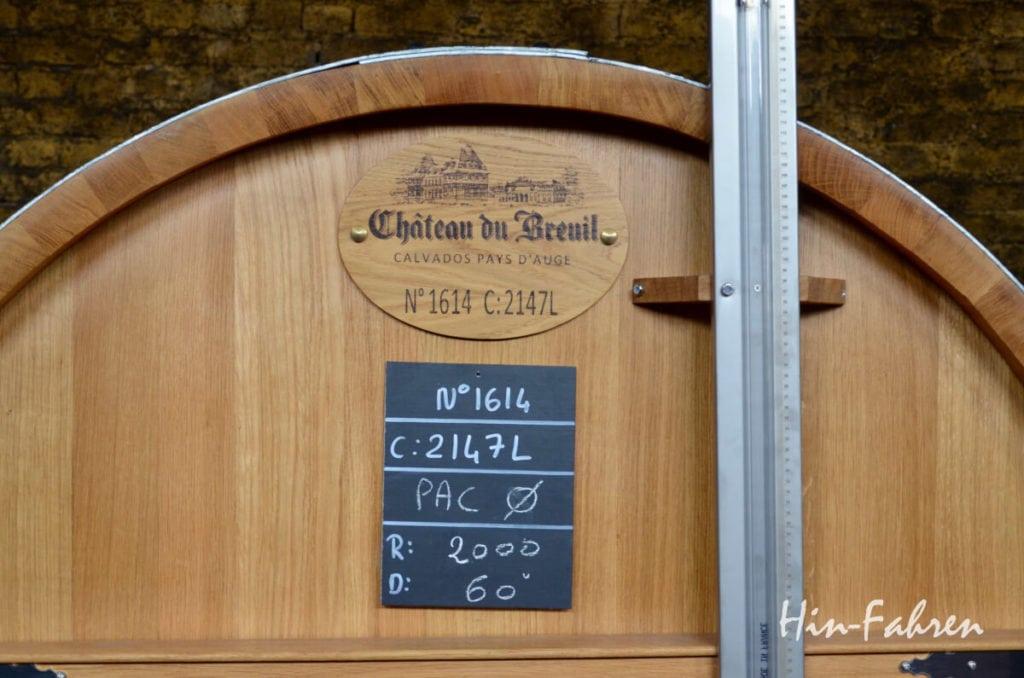 Normandie: Holzfass für Calvados