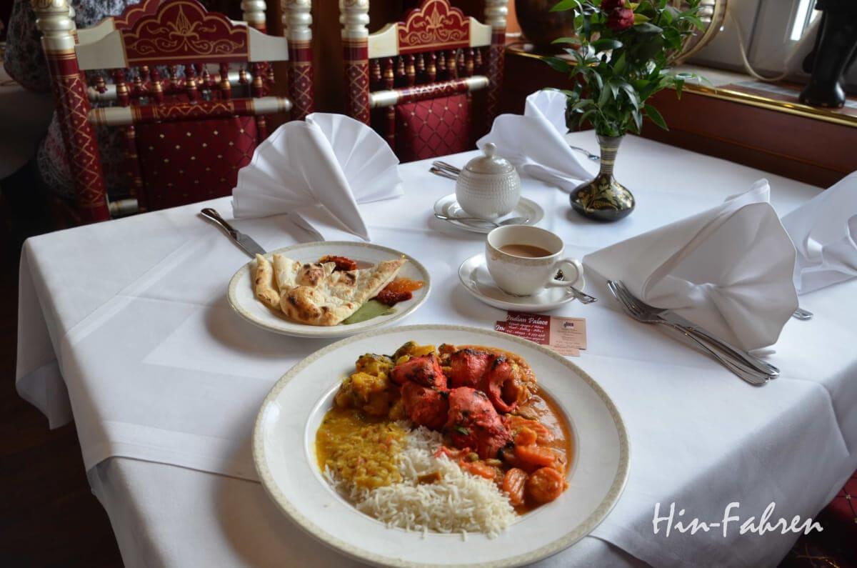 Einkehren bei der Städtetour: Mittagessen im Indian Palace in Speyer