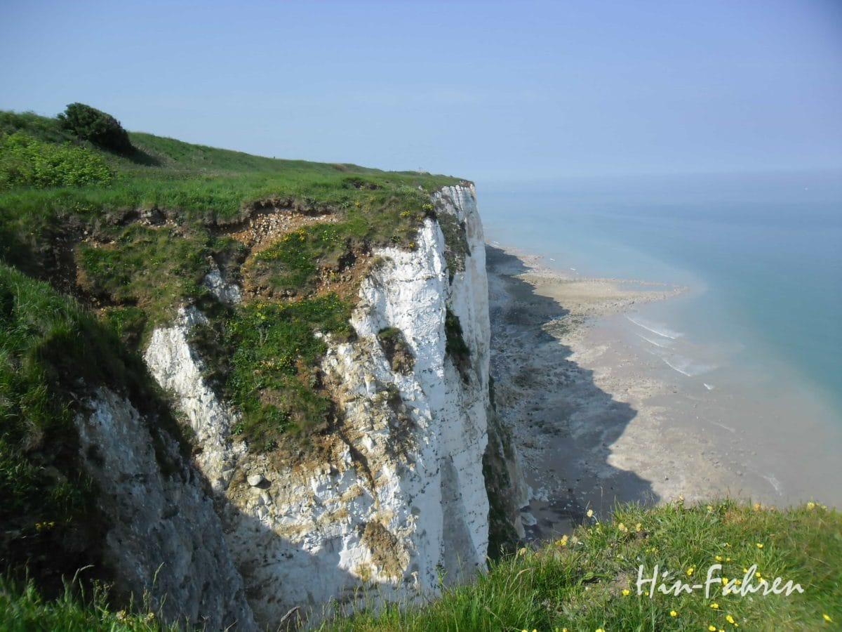 Alabasterküste bei Le Treport #Wohnmobilreise #Normandie