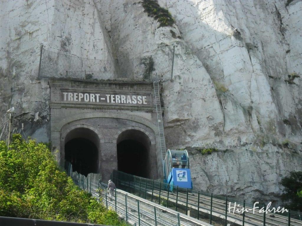 Zahnradbahn in Le Treport in der Normandie #Zahnradbahn