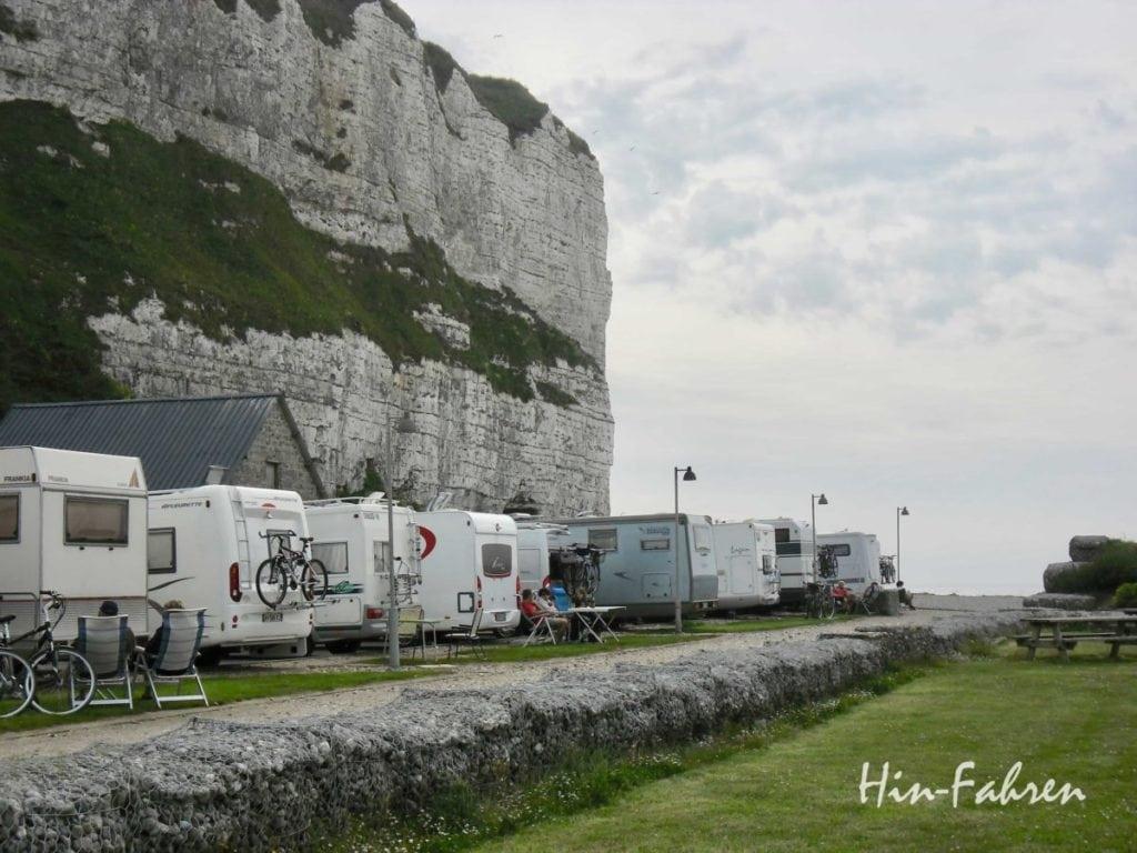 Nicht nur interessant für Wohnmobil-Einsteiger: Wohnmobilstellplatz Normandie Saint-Valery-en-Caux #Normandie #Wohnmobiltour