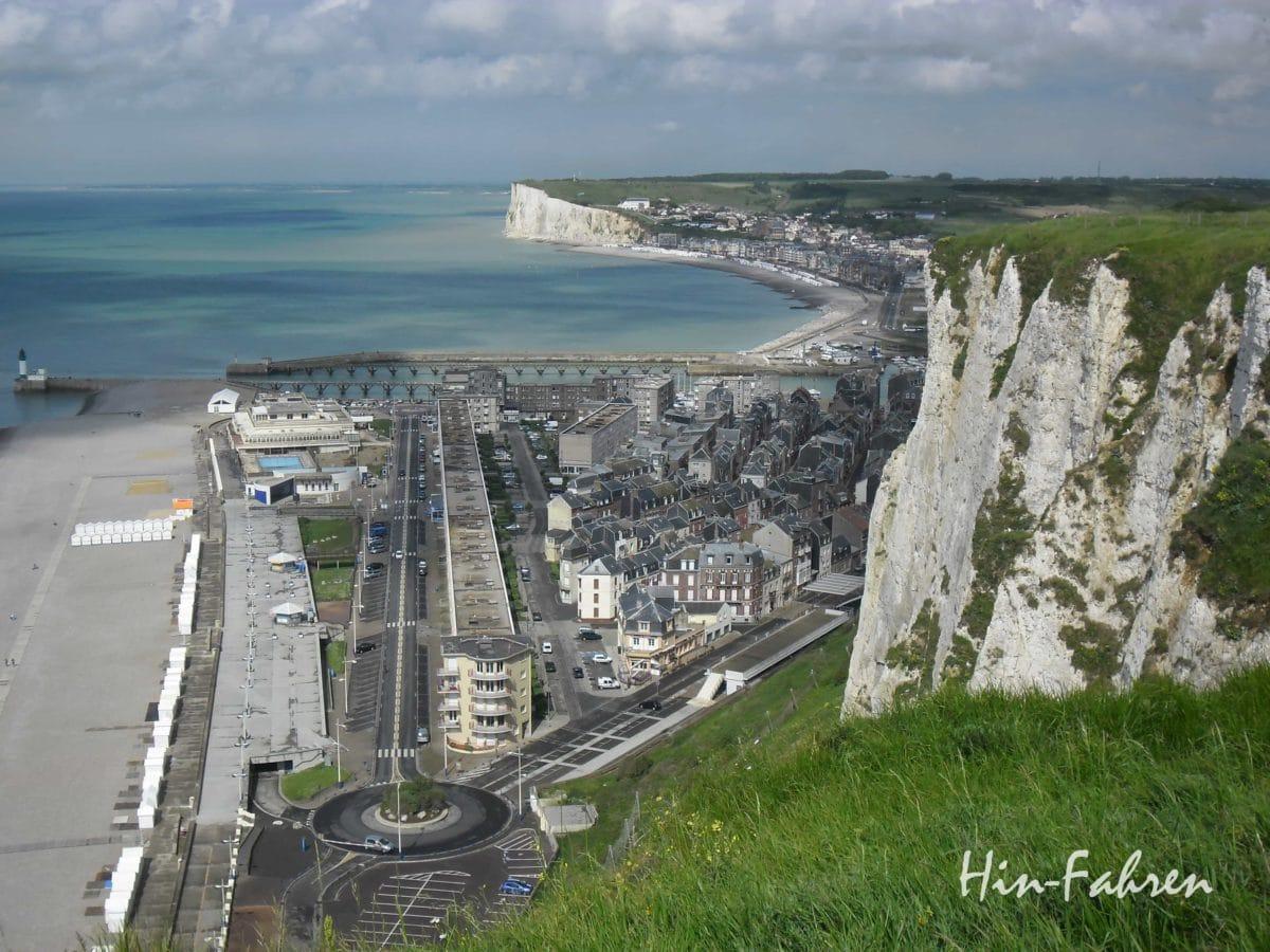 Blick auf die Küste bei Le Treport in der Normandie #Seebad #Ärmelkanal