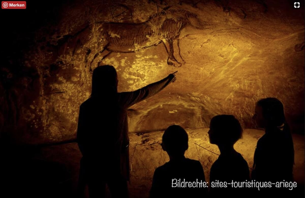 Malerei von Pferden in der Grotte Niaux