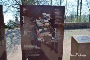 Schild mit Klosterplan