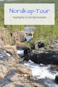 Nordkap-Wohnmobil-Tour: Route in Nordschweden, Stromschnellen, Kirchstadt #Wohnmobilreise #Schweden #Nordkapfahrt