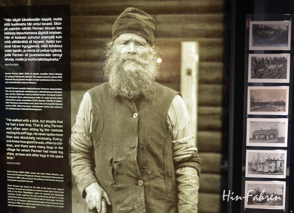 Porträt des Mönch Parmen im Museum Arktikum