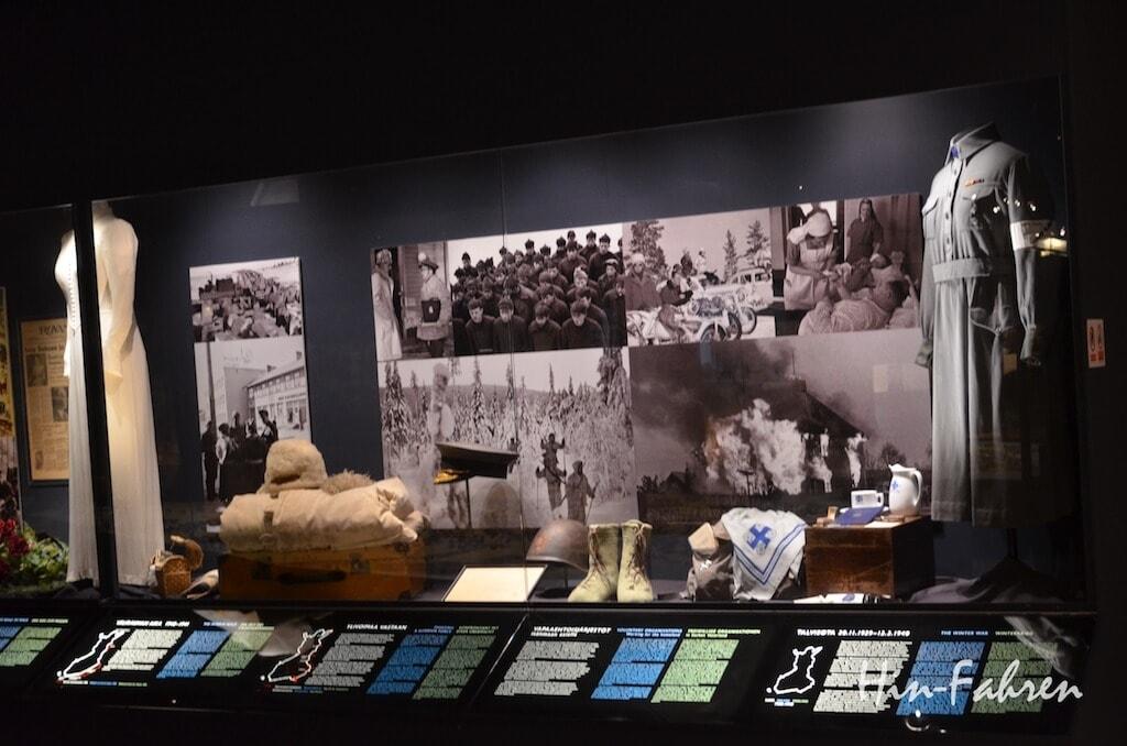Dokumentation der Vorgänge im Zweiten Weltkrieg im Museum Arktikum