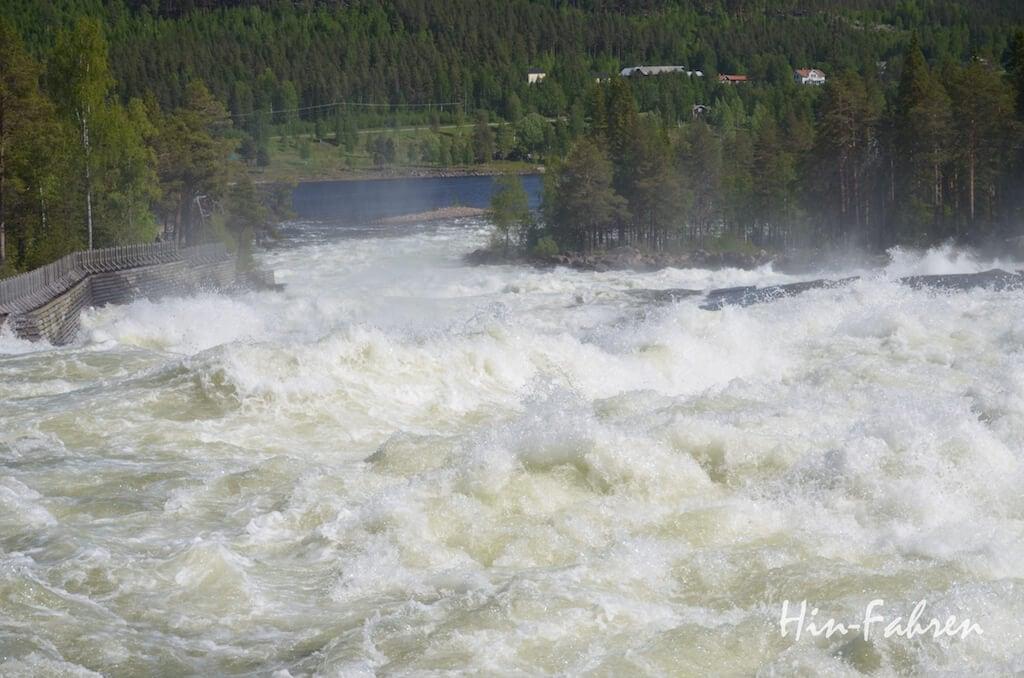 Stromschnellen in Storforsen im Juni