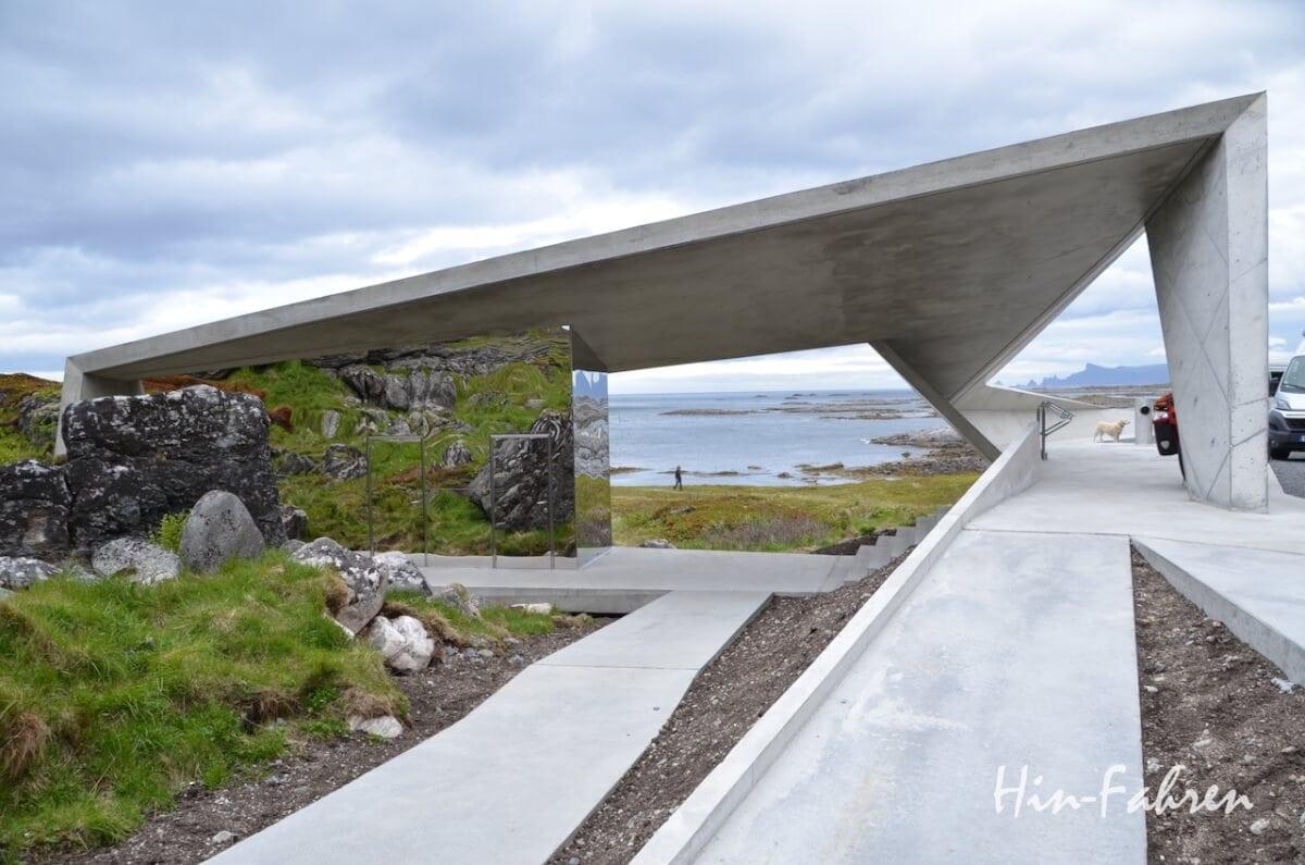 Norwegen mit dem Wohnmobil: Die Rastplätze der Landschaftsrouten sind sehr modern gestaltet