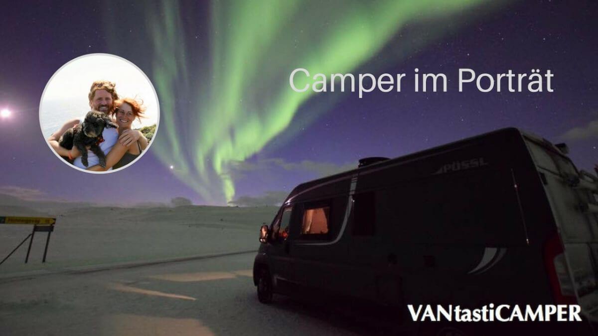 Kastenwagen mit Polarlicht