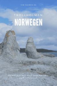 Auf dem Weg zum Nordkap fahren wir auf der E6 am Tana-Fluss und entlang des Porsangerfjord. Highlight sind die Trolle von Trollholmen #Wohnmobil #Wohnmobiltour #Norwegen #Norwegenurlaub