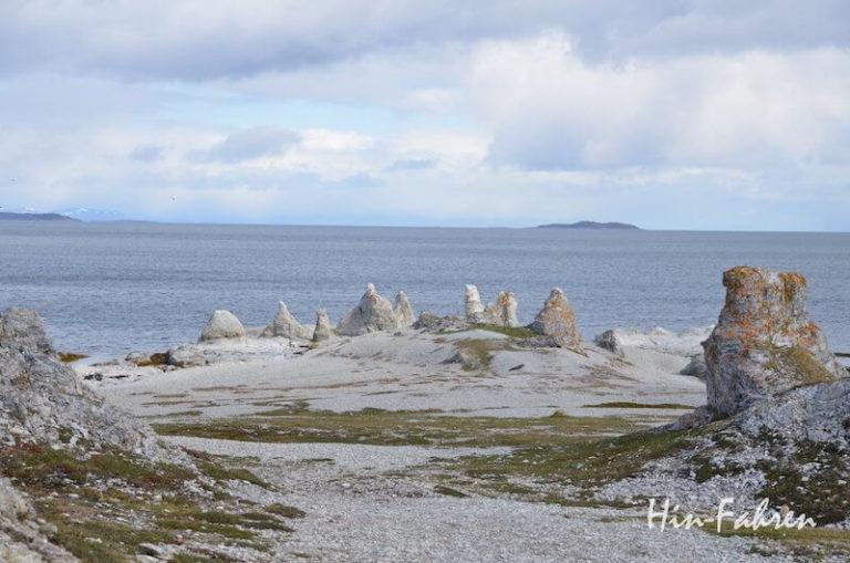Steinformationen am Trollholmsund in Norwegen