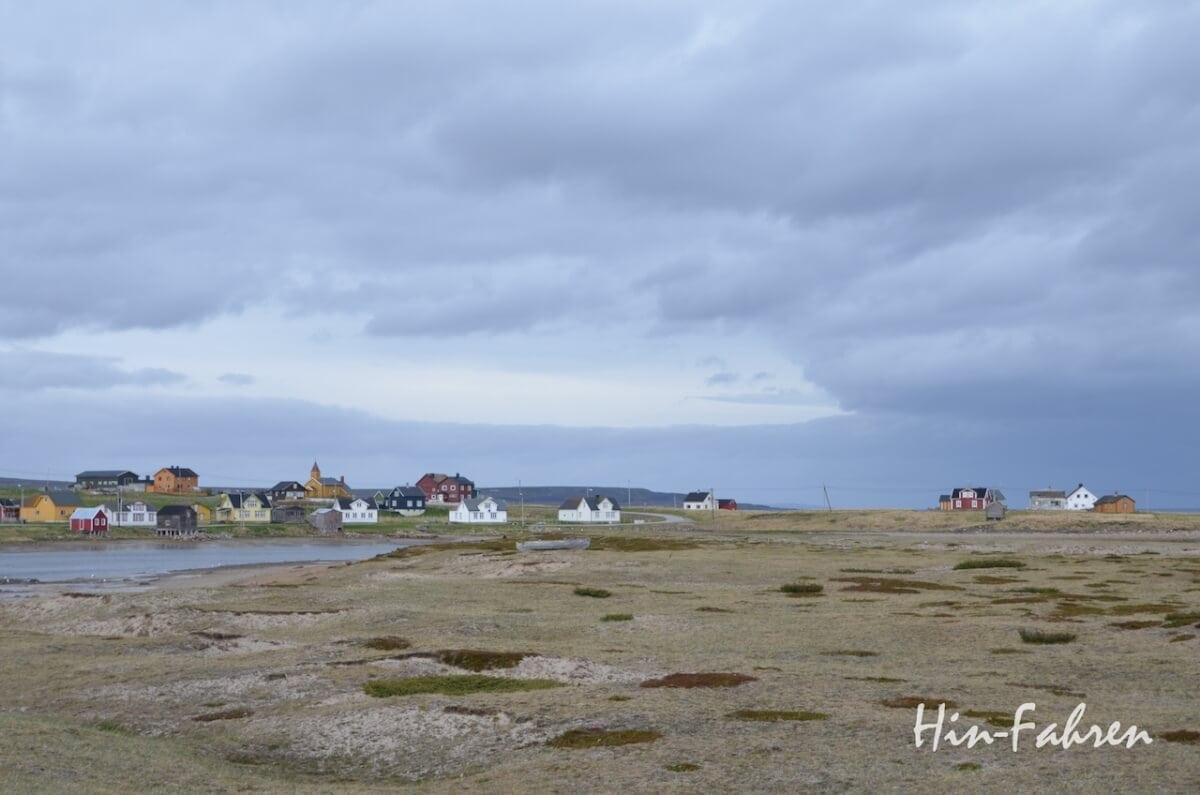 Bunte Häuser auf Varanger