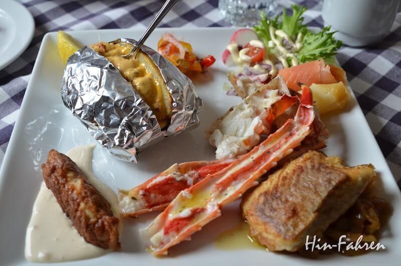 Highlight im Urlaub und einfach lecker: Fisch, Kartoffel und Königskrabbe