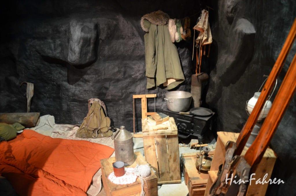 Norwegen im Zweiten Weltkrieg: Einfachste Bedingungen in einer der Höhlen
