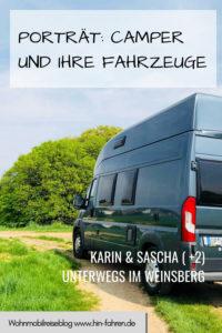 Die Kastenwagenfahrer Karin und Sascha berichten warum sie einen Weinsberg Carabus fahren, warum das Fahrzeug ideal ist für Familien und was sie unterwegs erleben #Kastenwagen #Camperporträt #Camping #Wohnmobil #Familie