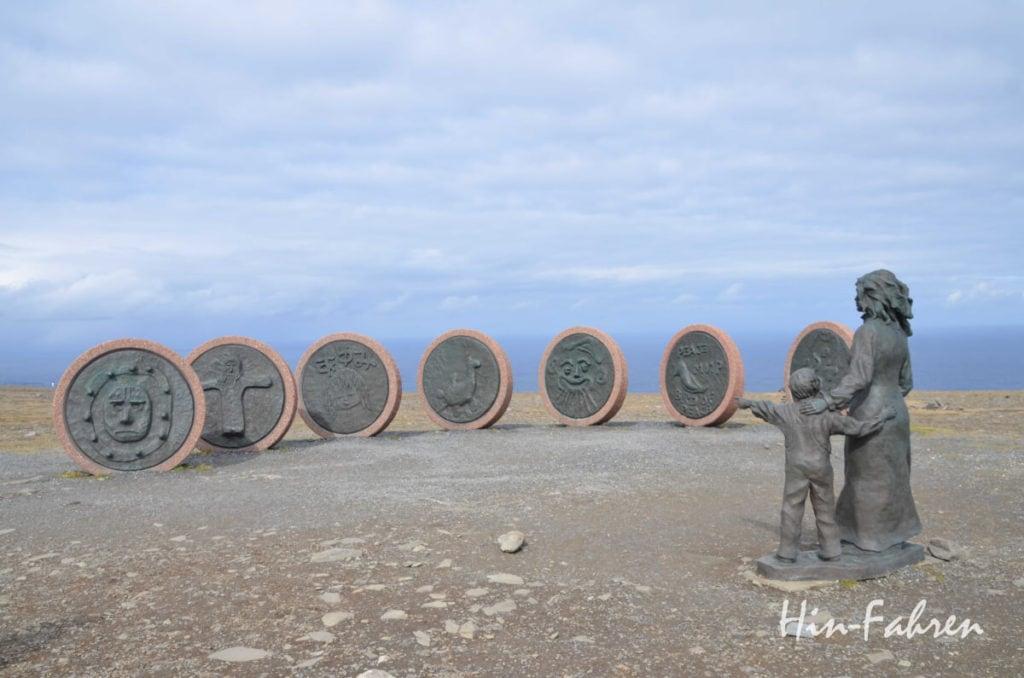 Das Kunstwerk am Nordkap wurde von Kindern aus der ganzen Welt entworfen