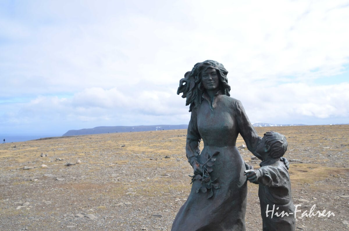 Skulpturen auf dem Nordkapplateau