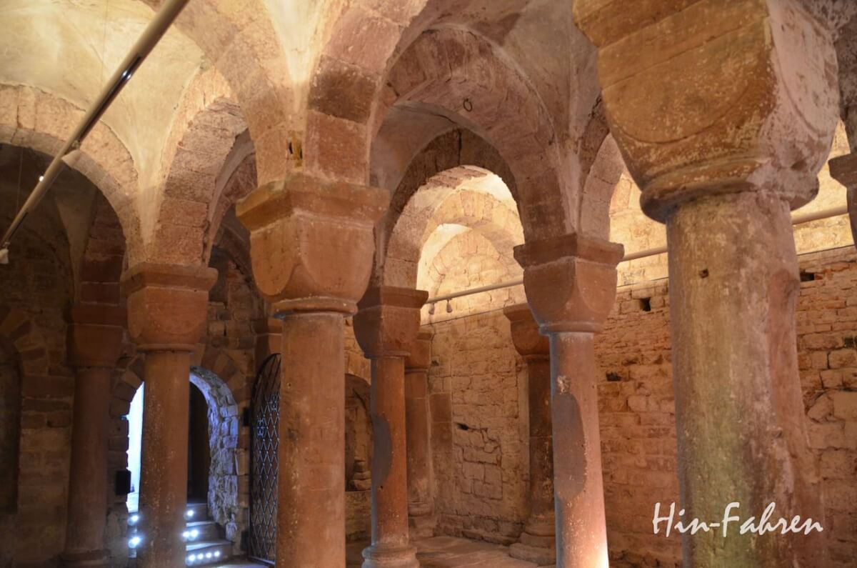 Wohnmobiltour Elsass: Romanische Kapelle mit Würfelkapitellen