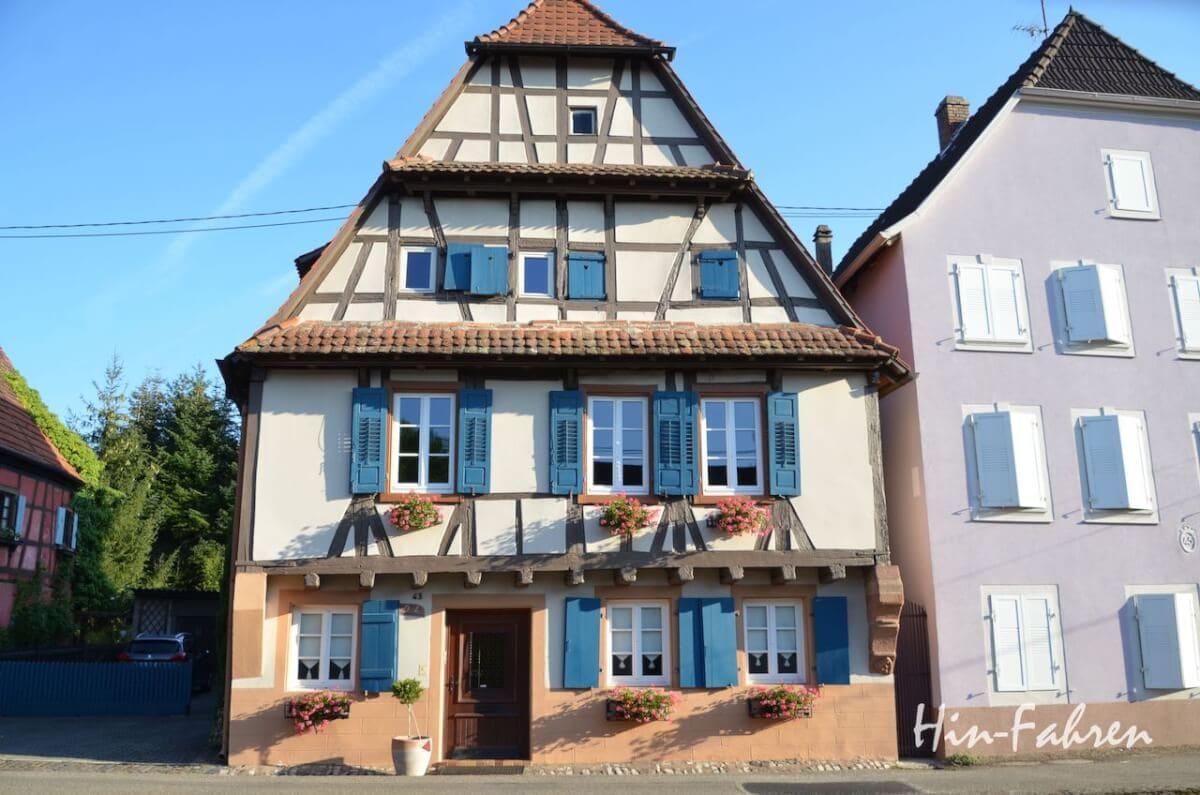 Wohnmobiltour Elsass: Fachwerkhaus in Weißenburg