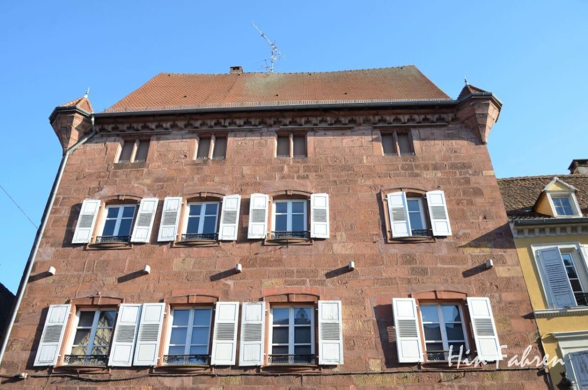 Wohnmobiltour Elsass: Mittelalterliches Haus in Weißenburg