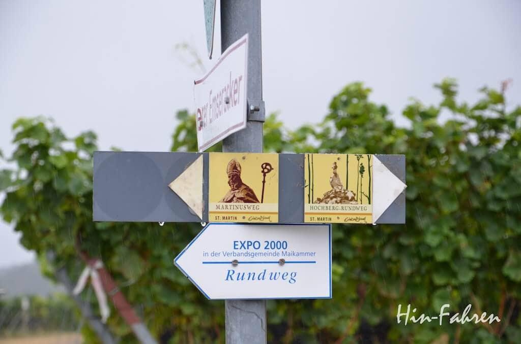 Ausgeschilderte Wanderwege in St. Martin