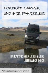 Camper im Porträt: Baikalsprinter Jessi & Jens lieben das Reisen mit ihrem CS-Kastenwagen nach Russland, Kasachstan, Sibirien, Georgien & die Mongolei #Wohnmobil #Mercedes