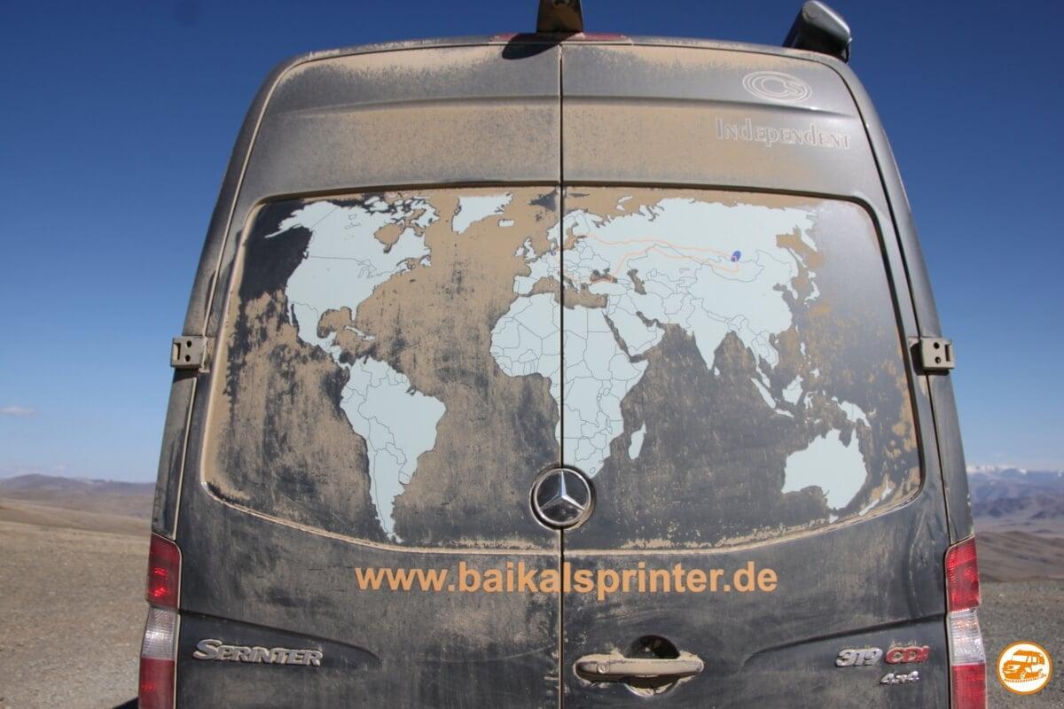 Heck des Mercedes-Kastenwagen von Baikalsprinter