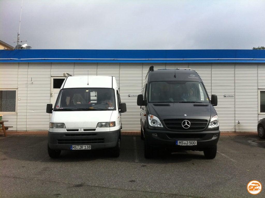 Kastenwagen-Wohnmobile auf Citroen und Mercedes