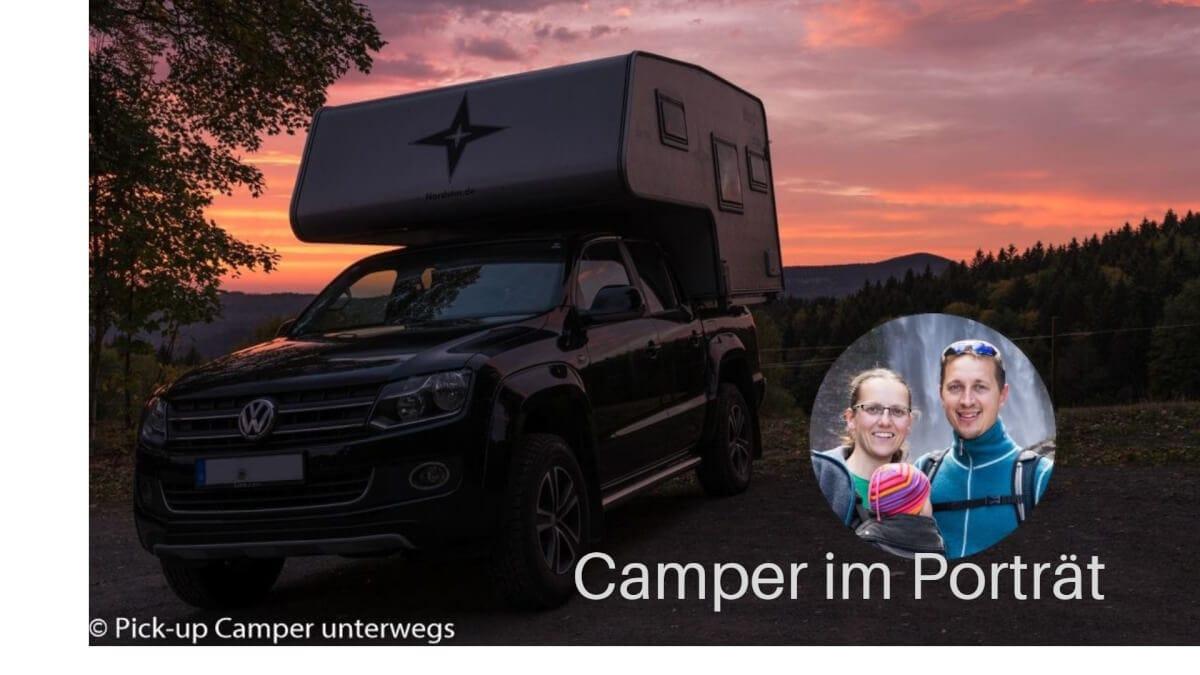 Camping mit Pick-up und Wohnkabine