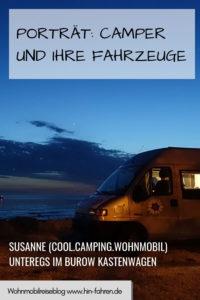 Susanne von Cool Camping Wohnmobil fährt einen alten Burow Kastenwagen. Sie berichtet über ihre Reisen und ihren Camper. #Fahrzeugwahl #Camping