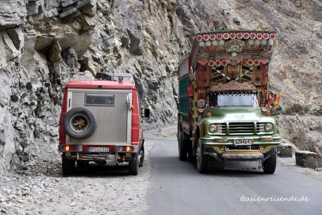 Unterwegs in Asien mit dem Kastenwagen-Wohnmobil in Pakistan
