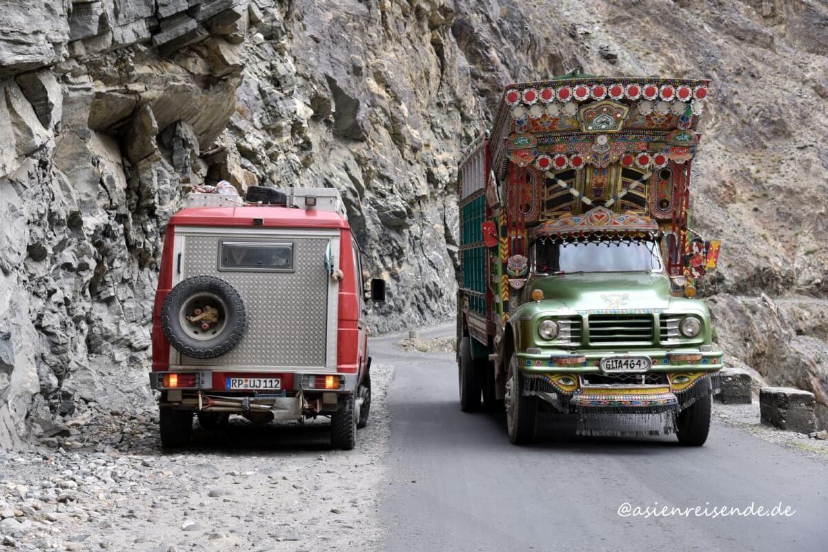 Unterwegs mit dem Kastenwagen in Pakistan