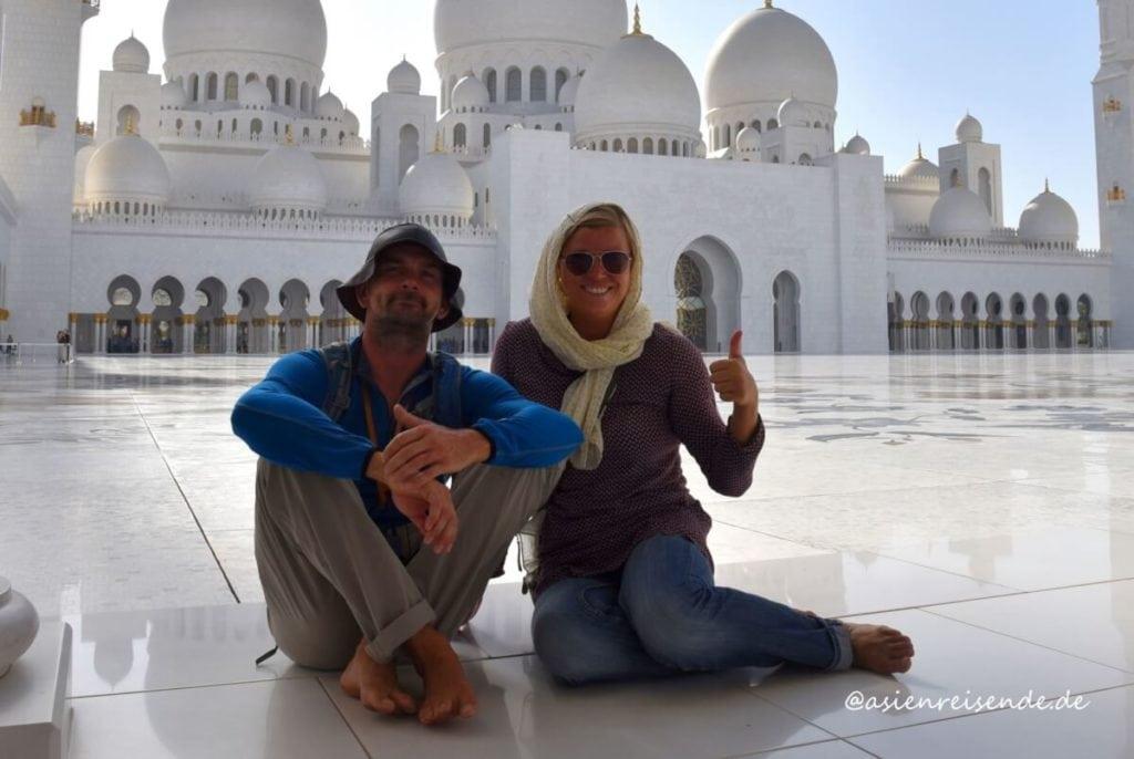 Die Asienreisenden in Abu Dhabi
