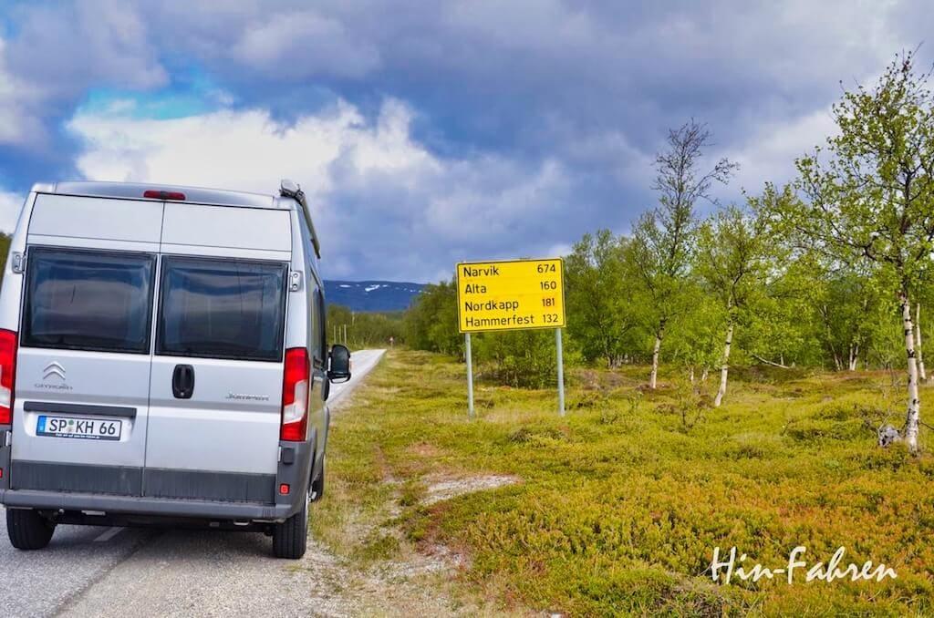 Der schnellste Weg zum Nordkap (mit Route & Wohnmobil-Stellplätzen)