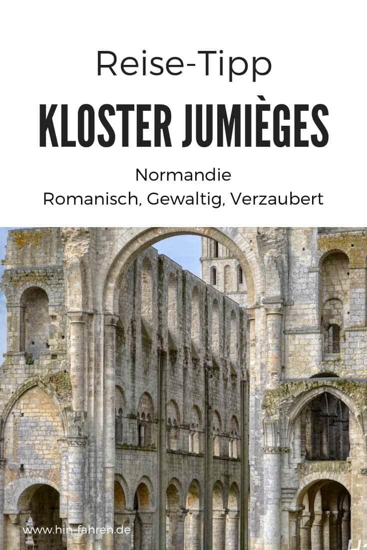Ausflugstipp Abtei Jumièges in der Normandie: Die schönste Ruine in Frankreich ist ein topp Besichtigungsziel für einen Tag im Urlaub und nicht weit von der Küste. #Ausflugsziel #Tipp #Normandie #Frankreich #Klosterruine #Romanik #Wohnmobil #Stellplatz #Ruine