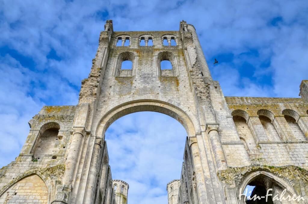 Die Abtei Jumieges in der Normandie ist die schönste Ruine Frankreichs