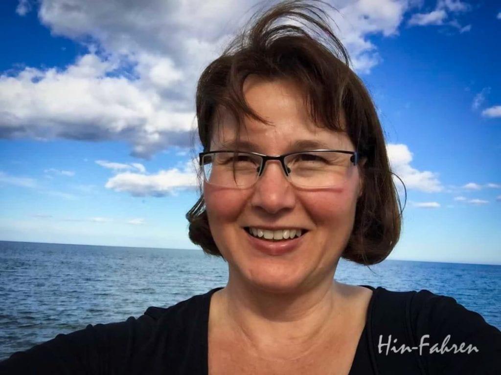 Reise-Journalistin und Camperin mit dem Wohnmobil Katja