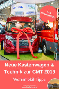 Neuheiten Kastenwagen, Wohnmobile, Technik & Ausstattung zur CMT 2019: Elektrowohnmobil & Dieselnachrüstung #2019 #Neuheiten #Wohnmobil #Kastenwagen #Elektro #Dieselnachrüstung