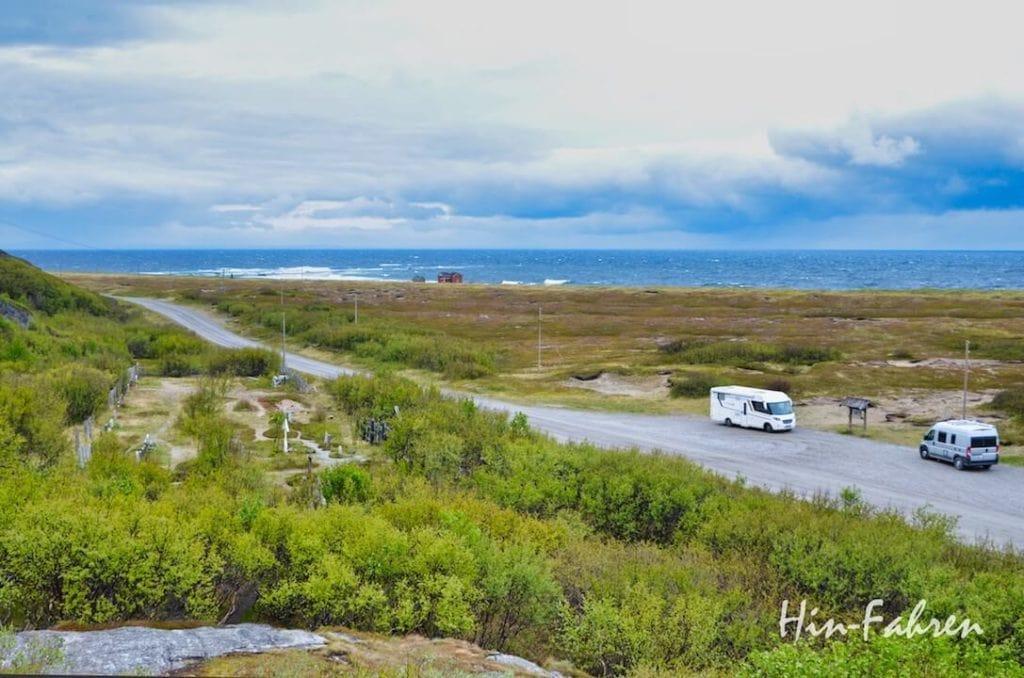 Ein Highlight der Reise durch Norwegen mit dem Wohnmobil war die Fahrt an der russischen Grenze