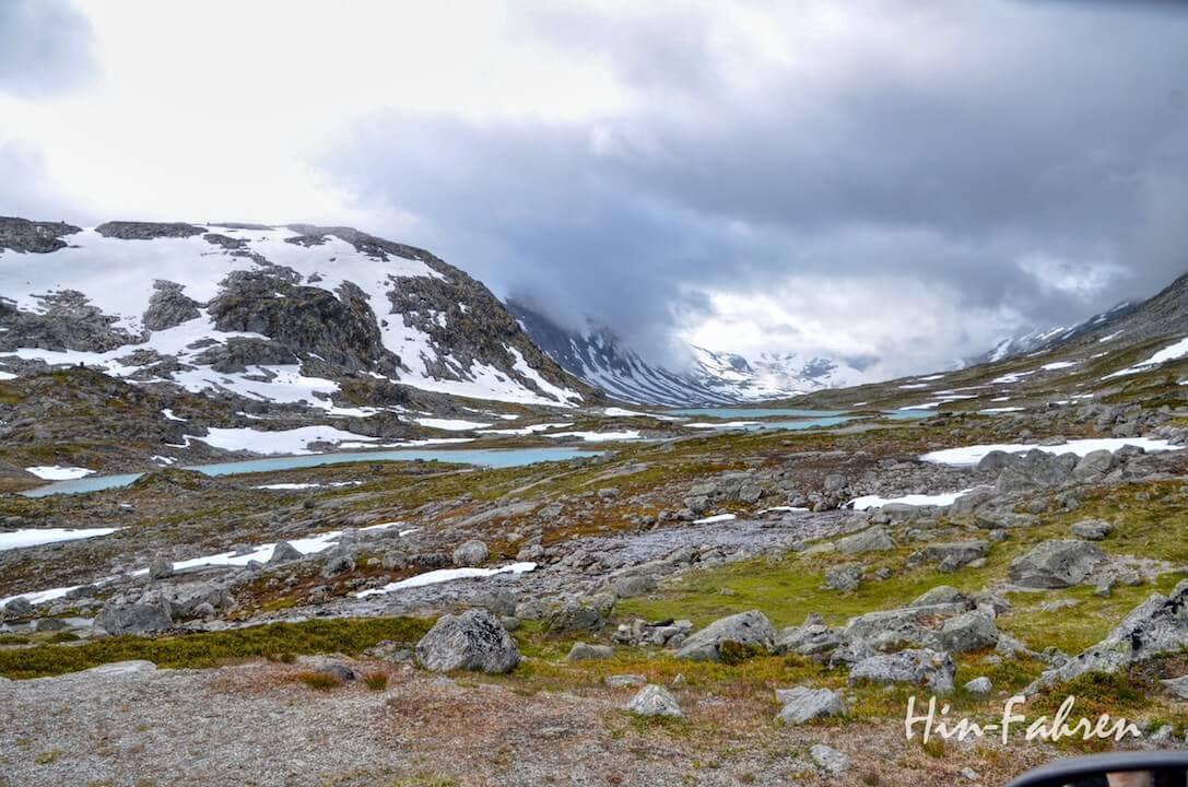 Ein Highlight unserer Fahrt durch Norwegen mit dem Wohnmobil: Blick auf die alte Gletscherlandschaft