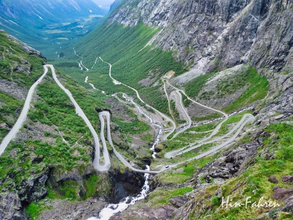 Highlight in vier Wochen durch Norwegen mit dem Wohnmobil: Trollstigen
