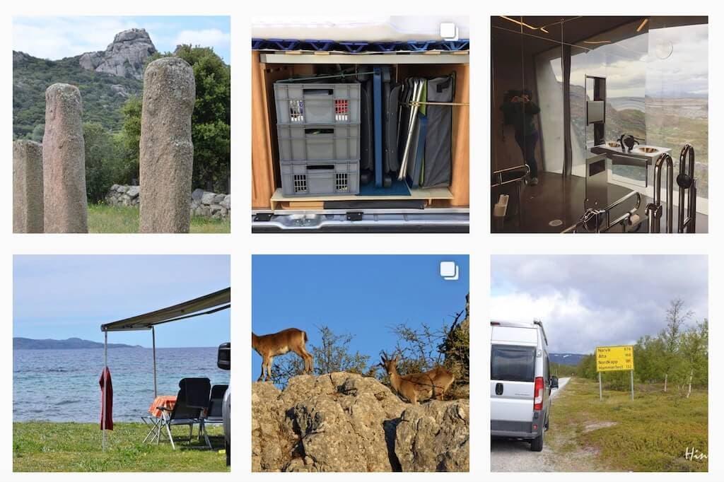 Wohnmobil-Kastenwagen in Norwegen und auf Korsika