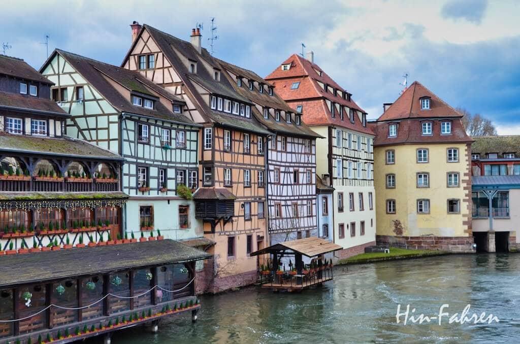 Stadtbesuch in Straßburg mit Wohnmobil: Fachwerkhäuser im Zentrum