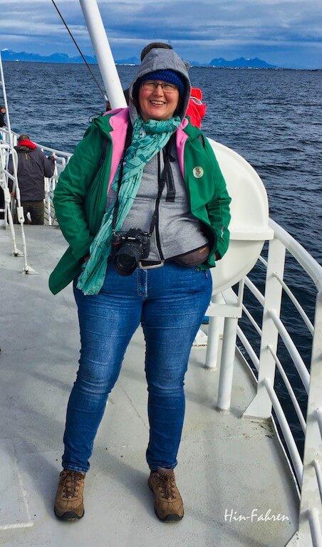Katja von Hin-Fahren beobachtet Wale in Norwegen