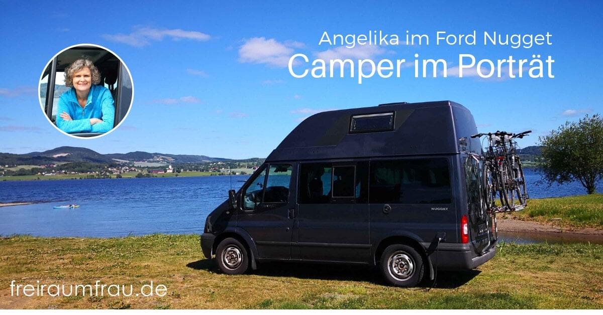 Kastenwagen Ford Nugget am See in Norwegen