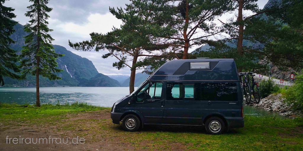 Mit dem Wohnmobil Ford Nugget unterwegs in Norwegen