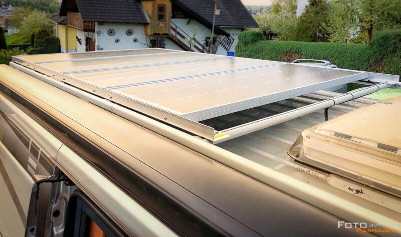 Pössl Kastenwagen: Photovoltaikanlage auf dem Dach des Kastenwagen